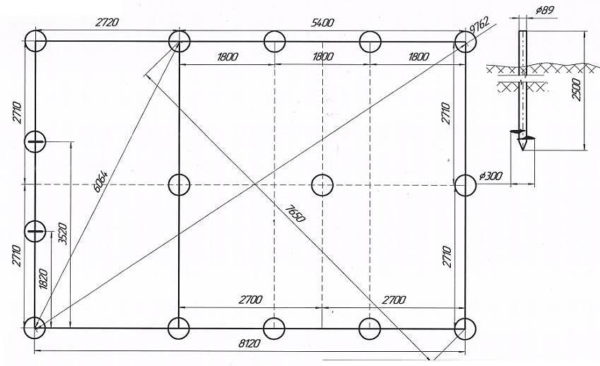 Пример расчета свайного поля